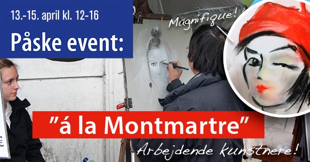 Påske event 'A la Montmartre' hos Art Gallery PS